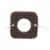 Pewter Connector - Square Closed Weave 19mm Antique Copper